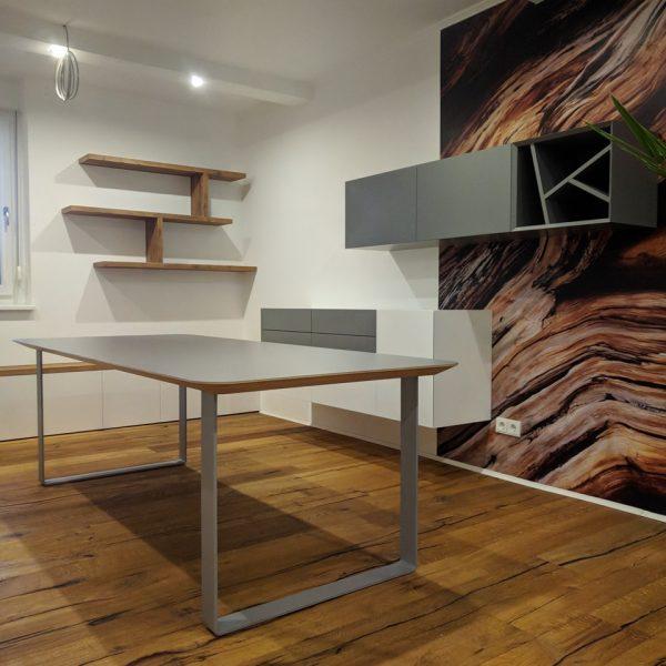Jedilna miza vezana plošča in barvni laminat